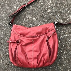 Tignanello Red leather cross body purse